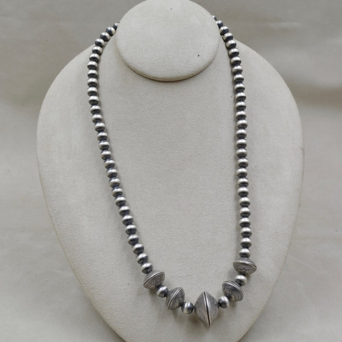 Oxidized Sterling Silver 8mm 4 Dimes & 1 Quarter Necklace by Maggie Moser