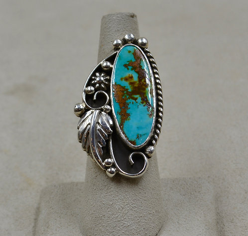 Easter Blue Turquoise & Sterling Silver 6.75x Ring by Cheryl Arviso