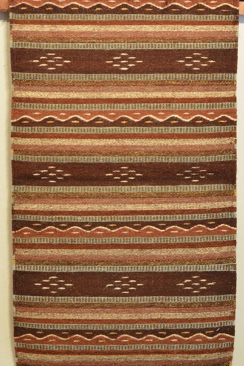 "Paneled Geometric Zapotec Weaving - 24"" X 36"""