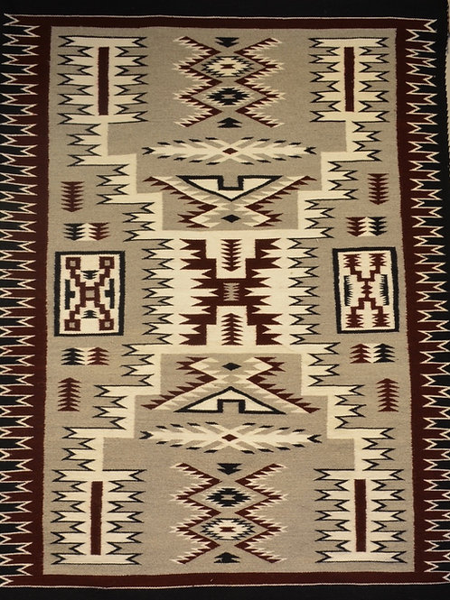 "Arlene Johnson - Storm Navajo Weaving - 49"" x 64.5"""