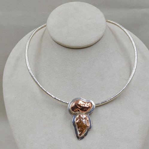 Copper Nugget Pendant by Richard Lindsay