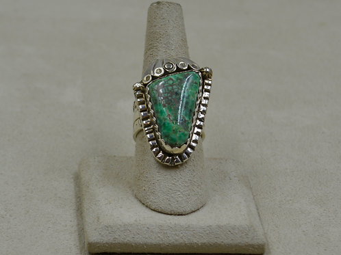Candelaria Turquoise & S. Silver, Scallop Style, 7.75x Ring by James Saunders