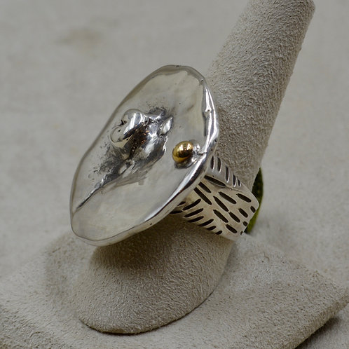 Indo Coin, High-Silver 7x Ring by Melanie DeLuca