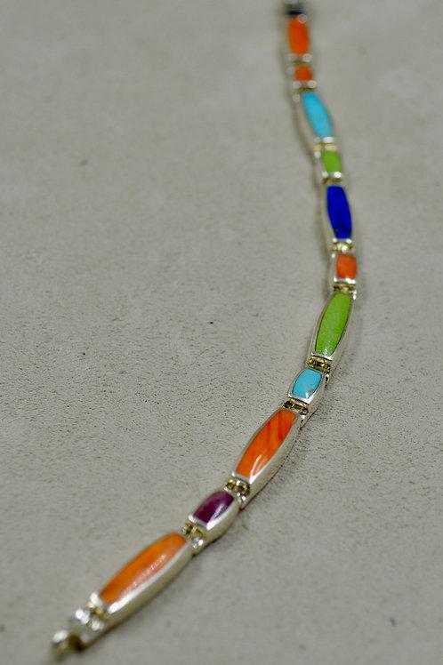 Multi-Stone Long & Short Tennis Bracelet by Peyote Bird