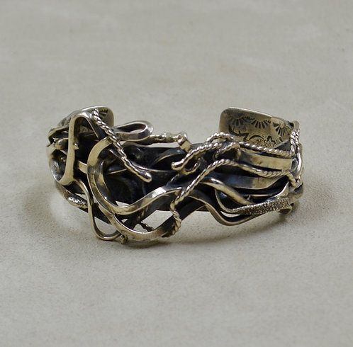 "Hand-forged Sterling Silver ""Salt River Canyon"" Cuff by Robert Mac Eustace Jones"
