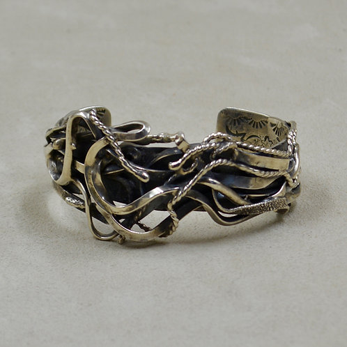 "Hand-forged Sterling Silver ""Salt River Canyon"" Cuff by Robert Mac Eustace Jones"