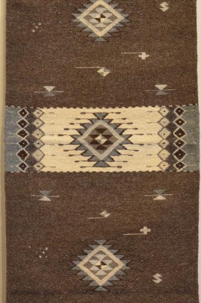 "Floor Runner - Natural Wool Paneled -  24"" X 78"""