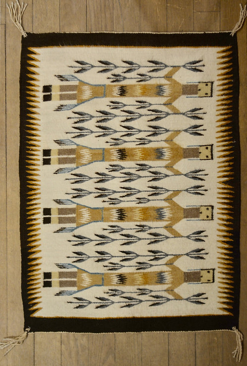 Yei Navajo Weaving By Mary Lou Yazzie 26 5 Quot X 35 Quot Truewest