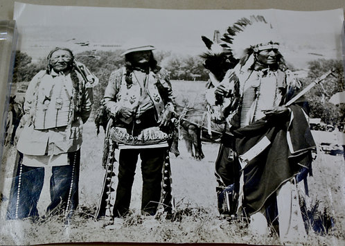 Antique Photo of Three Native Men