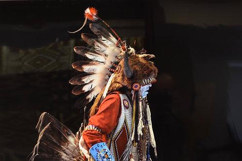 """Traditional Bear Dancer"" by Arland Ben"