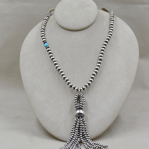 Original Tassel Necklace with Turquoise Bead by Shoofly 505