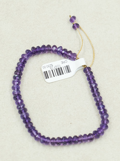 Amethyst Faceted On Cord Bracelet by True West Jewelry