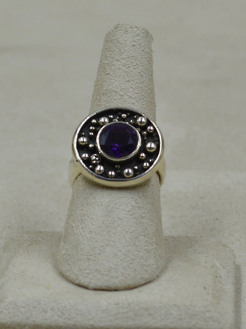 Sterling Silver Granulated Universe, 18k Plate 8x Ring by Roulette 18