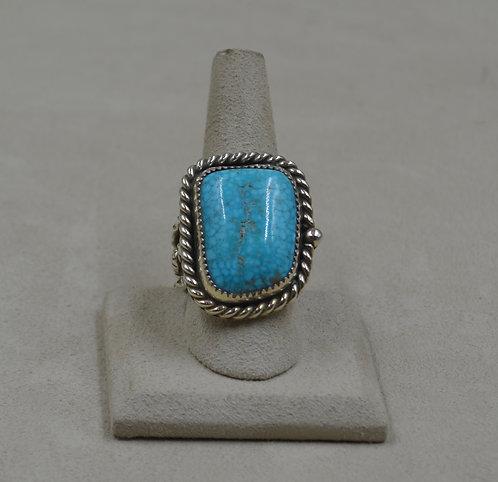 Kingman Birdseye Turquoise & Sterling Silver 10x Ring by James Saunders