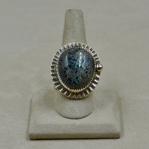 Candelaria Turquoise - Rare Pseudomorph - 10.75x Ring by James Saunders