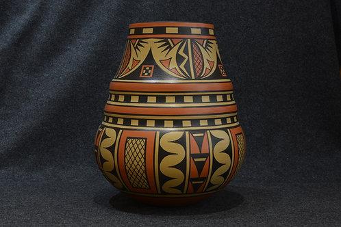Large Double Shouldered Jar by Cavan Gonzales, San Ildefonso Pueblo