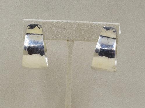 Sterling Silver Small Gail Hoop Earrings by Richard Lindsay