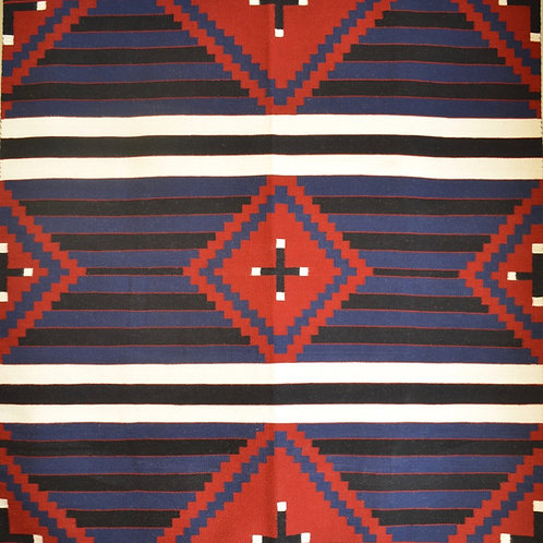 """Chief's Blanket 3rd Phase Navajo Weaving by Annie Roanhorse - 69"""" X 80"""