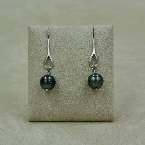 South Sea Pearl & Sterling Silver Earrings by US Pearls