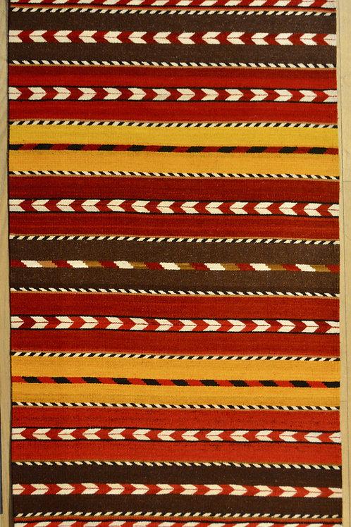 Flechas Kilim - Medium Sized 3' x 5' Rug, by Sergio Martinez - Zapotec