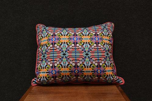 """Feline Katsina"" Art Pillow by Libby Chadd"