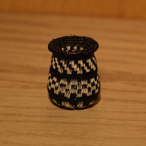 Tiny Black and White Wounaan Basket