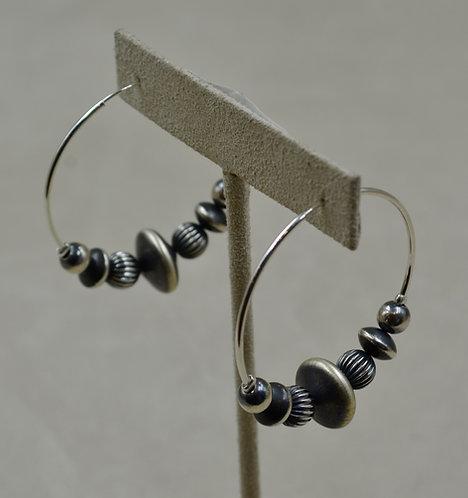 Large Saucer Hoop Earrings by Shoofly 505