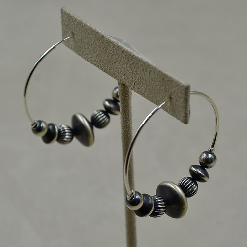Large Saucer Hoop Earrings by Shoofly 505