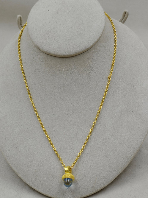 22k Gold Mini Sailor's Knot Handmade Chain by Pamela Farland