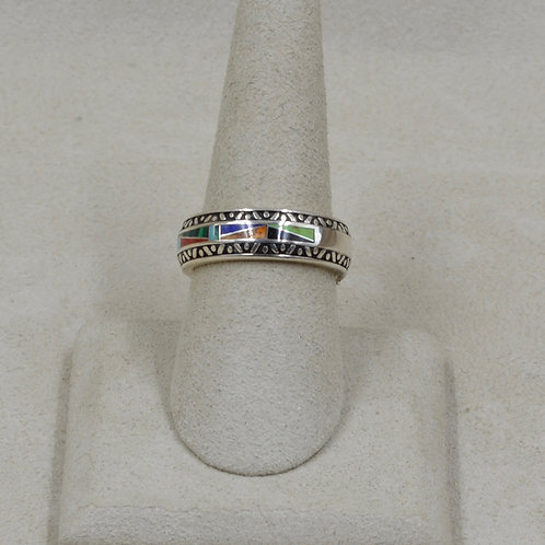 Gallup Multi-Stoned Sterling Silver 8x Ring by GL Miller Studio