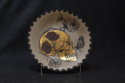 Collaborative Skull Plate by Jonathan Loretto, and Valerie Rangel