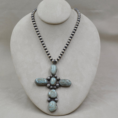 Natural Old Vintage High Grade Turquoise Cross - Guadalupe