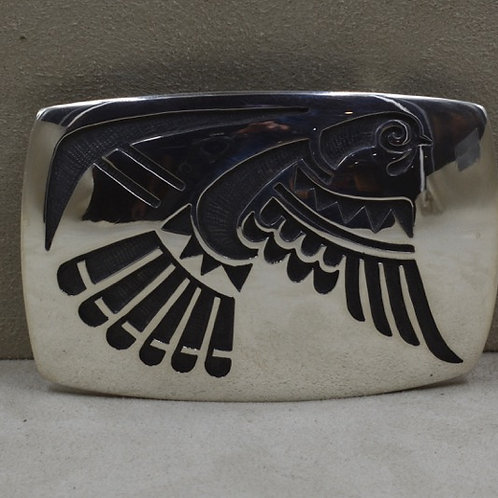 "Large Turkey - ""Renewing Your Life"" Hopi Overlay Buckle by Koinva"