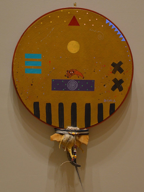 """Buffalo Spirit Shield"" by Doug Coffin, Potawatomi"
