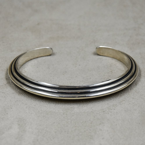 Pyramid 5.75x, 3 Wire, Sterling Silver Cuff by Steve Taylor