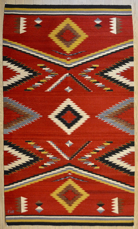 Walk in Beauty, Large 4'x6' Rug, by Sergio Martinez - Zapotec