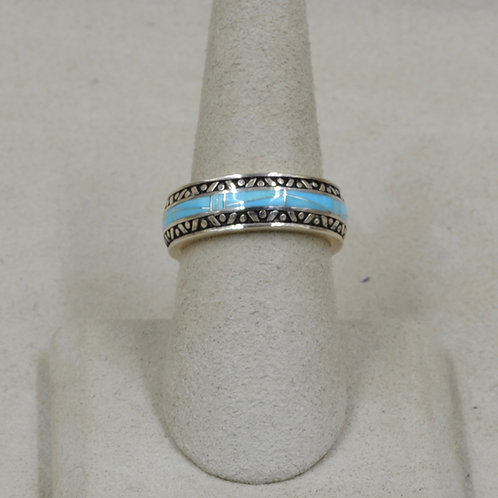 Sleeping Beauty & Campitos Turquoise, S. Silver 7x Ring by GL Miller Studio