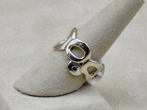 Organic Circles Sterling Silver 8x Ring by Roulette 18