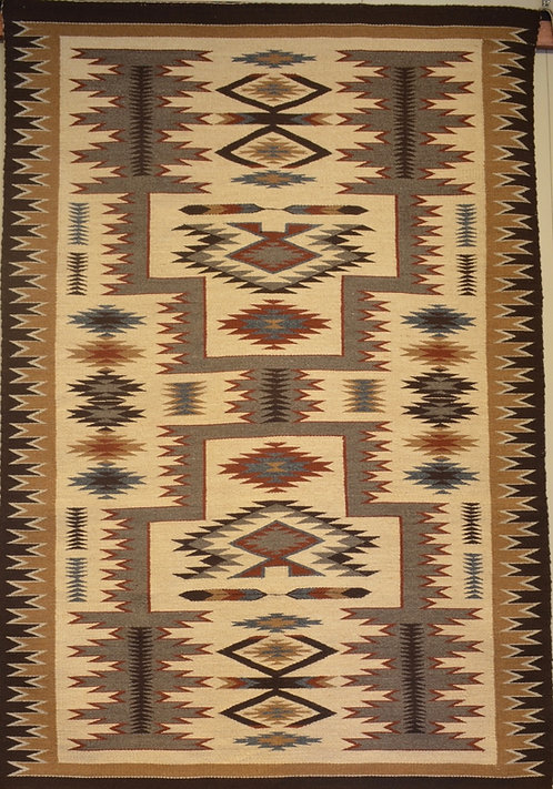 Rita Kaye - Storm Navajo Weaving - 6' X 4'