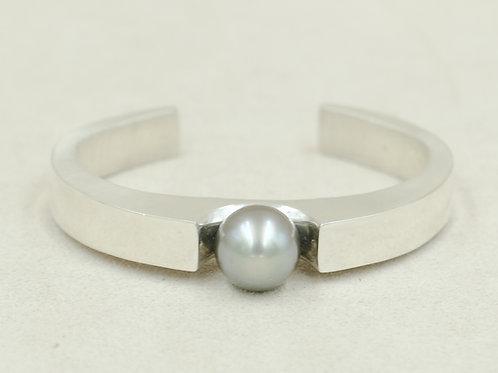 Sterling Silver w/ Tahitian Pearl Cuff by Reba Engel