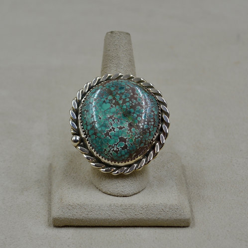 Candelaria Turquoise Rare Pseudomorph & S. Silver 10.5x Ring by James Saunders