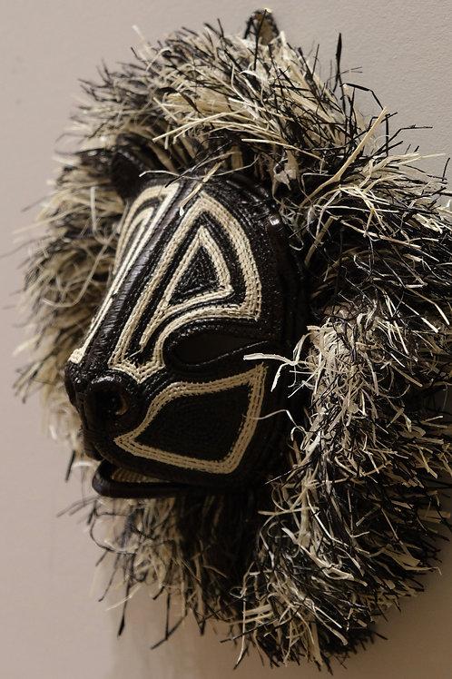 Black and White Lion Emberá Mask