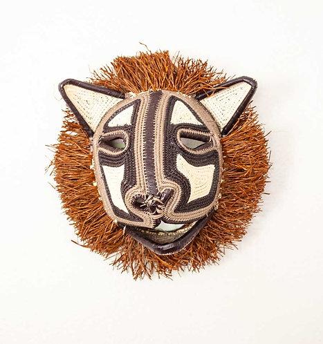 """Pointy Ears Tiny Cat Emberá Mask by Felicinda Guaynora - 7""""W x 8""""H"""