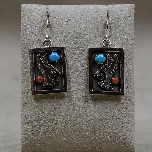 Multi-Stoned Hummingbird Earrings by Aaron John