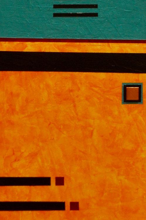 """Dreamweaver"" Acrylic/Mixed on Panel - 36"" x 8"" - by Marilyn Jennings"