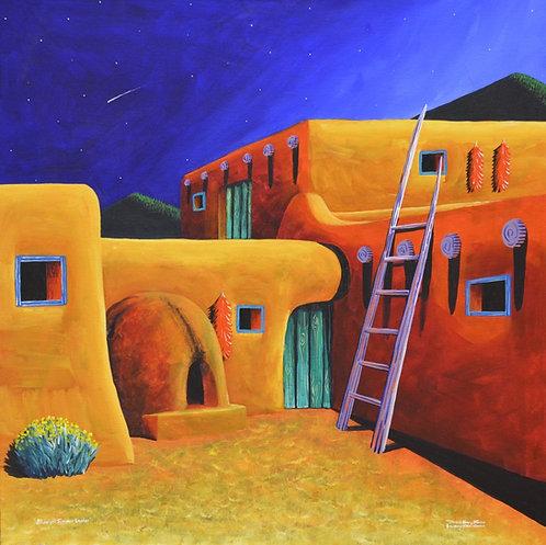 """Midnight Summer Ladder"" by David Gary Suazo, Taos Pueblo"