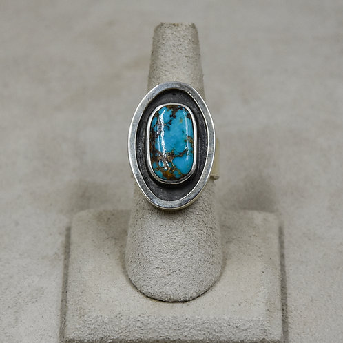 Hi-Grade Bisbee Turquoise 7.5x Ring from True West/John Paul Rangel