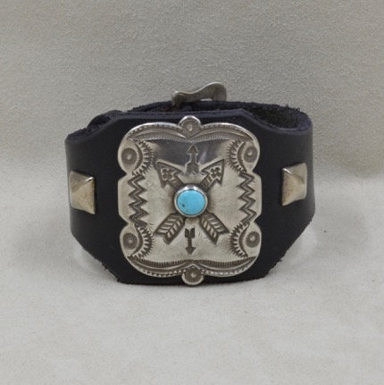 Katoh Sterling Silver and turquoise Crossed Arrows Cuff by Buffalo