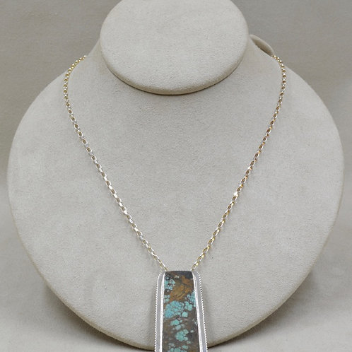 Sterling Silver with Hi-Grade Natural Bisbee Pendant by John Paul Rangel
