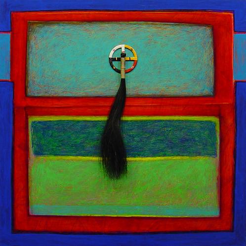 """Medicine Walk"" - Acrylic/Mixed on Panel - 18"" x 18"" - by Rhett Lynch"